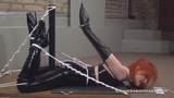 Latex, Ballet Boots And An Armbinder