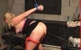 Fucking Machine With Tits Clamped in Bondage
