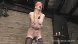 Vacuumed And Clamped Nipples With Electo Pussy Torture