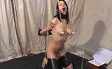 Tit Tied, Nipple & Clit Clamped, Arms and Legs Tied
