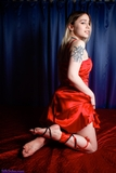 SS0593S: Sylvia Nights in red satin