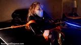 VID0607: Catsuited super spy Ariel Anderssen captured and put in orgasm deathtrap!