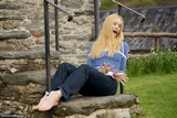 RE1569: Ariel Anderssen Outside, tied on the naughty step!