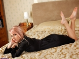 SS0569S: Chloe Toy Black Widow in Black Satin