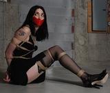 Dureva, Looooong Legs, Ropes & Tape Gag
