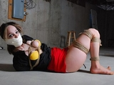Mallory Tightly Hogtied With Hemp Rope On The Floor. Another Paid Fantasy Abduction, She's Getting Her Money's Worth!