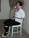 Mouth Stuffed, Tape Gagged, Chair Bound - Roxie