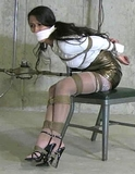 Sexy Strappy Stiletto High Heels in the Basement
