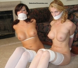 Two Naked Hot Babes Bound and Gagged