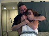 Izze & Stacie: Hotel Games. I was done binding Izze's legs and gagging her when to my surprise someone eles walked in ... I grabbed her, applied a hand gag and slowly started tying her up ... another