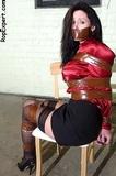 Christina Carter: Basement Captive in Satin Blouse