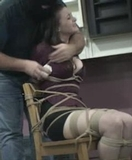 Serene Isley Chair Tied and Tape Gagged on Screen