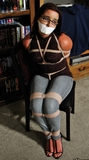Girl Next Door Bound and Tape Gagged