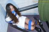 Mila Roped and Gagged on the Stairs
