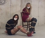 Two Hot Babes, Stilettos, Pantyhose and Tight Ropes!