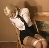 Kate Blonde is The Chair Tied Waitress