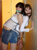 Short Shorts, Rope and Cleave Gag Struggle: Nusia, Elka