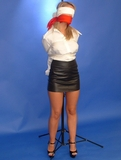 Jasmine Sinclair: Blindfolded, Gagged & Pole Tied
