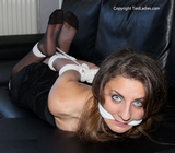 Hogtied Pantyhose Struggle