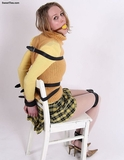 Progression To Bondage, Strapped To Her Chair