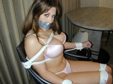 Super Sexy Bra and Panties Bondage Struggle