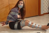 Sexy Viviana Strains And Struggles To Get Free - All Of That Duct Tape Was Worth It!