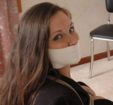 Taylor Just Wants The Rough Hemp Rope Off! Cleavage, Chair Tied, Medical Tape Gag, Microfoam