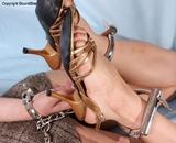 Sexy Strappy High Heel Handcuff Hogtie Struggle