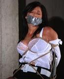 Secure Chair Tie, Lacy Sheer Bra Exposed! Lola Lynn