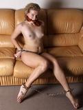 Topless Tittie Handcuff Struggle