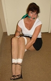 Secretary Paige Bound & Gagged in Sexy Strappy High Heels