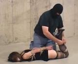 Struggling and Then Hogtied On Screen