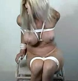 Naked Beauty Bound, Tape Gagged and Struggling
