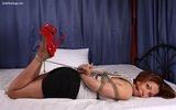 Red High Heel Hogtie with Cleavage!