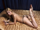 Chains Get Her Off (HD) Topless, basre feet, chains, locks, handcuffs