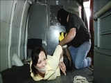 Audrey Hogtied In The RopExpert Van