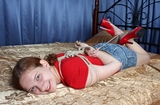 Tammy - Red High Heel Hogtie