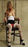 Chair Tied and Boobs Presented for Fondling