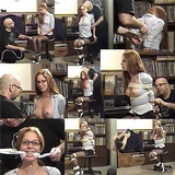 40 Miniute Bondage Video - The Photo Shoot, Bound, Gagged, Exposed and Struggling. Tied on Screen, High Heels, Stilettos, Redhead, Eye Glasses, Black Mini Skirt, Boobs, Breasts, Tits, Pantyhose...