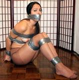 Pantera Wearing Nothing But Pantyhose and DuctTape. Tape Gagged, Boobs, Breasts, Tits, Tape Tied, Stockinged Feet, Pantyhose