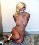 Caught In The Shower - Naked, Nude, Blonde, Cleave Gagged, Boobs, Breasts