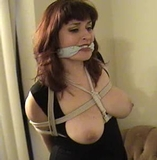 Kimberly Trying To Open The Damn Door! 2+ Minute Bondage Vid!