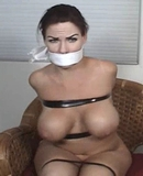 Alexis Taylor Taped and Gagged ... Completely nude and all taped up