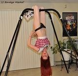 Stripper Suspended Upside Down
