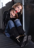 Bella Lovez Going For a Ride - Ball gag, blonde, jeopardy, boots, jeans