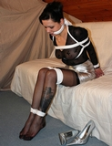Hot Babe Bound and Gagged