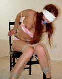 Annabelle Genovisi Bound, Ball Gagged & Blindfolded