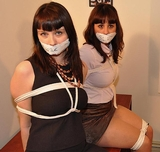 Jeri and Monica: Husband Catches Wife Cheating With Another Woman! Multiple Women Bound, Tape Gagged, Rope Breast Harness, Escape Attempt