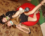Tigra & Wendy: I Told You Not To Struggle So Hard, Now We're on The Floor! Multiple Women Bound, Cleave Gagged, High Heels, Dresses