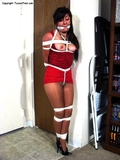 Gracie, Pantyhose, Cortch Rope and Boobs